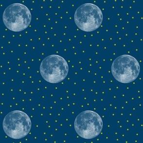 blue moon and fireflies