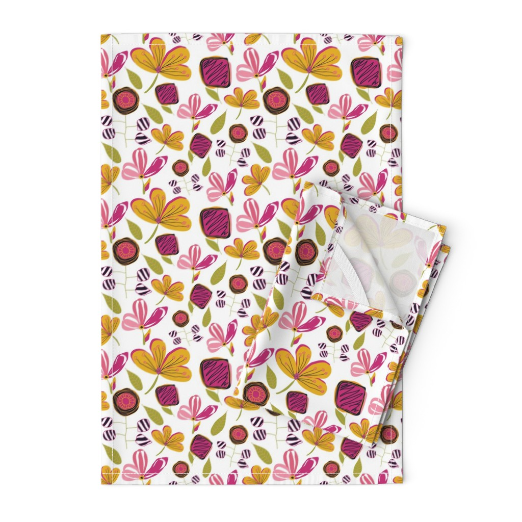 Orpington Tea Towels featuring Enchanted Garden by studiojulieann