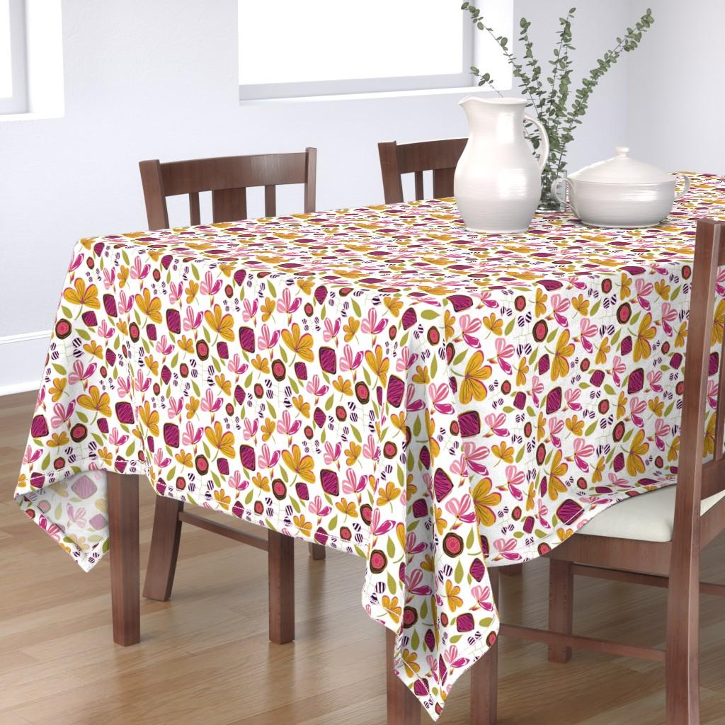 Bantam Rectangular Tablecloth featuring Enchanted Garden by studiojulieann