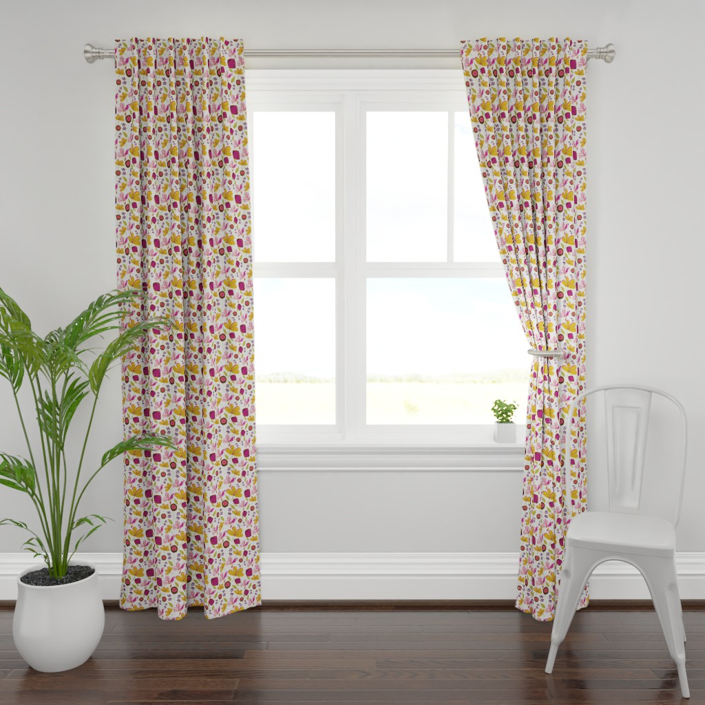 Plymouth Curtain Panel featuring Enchanted Garden by studiojulieann