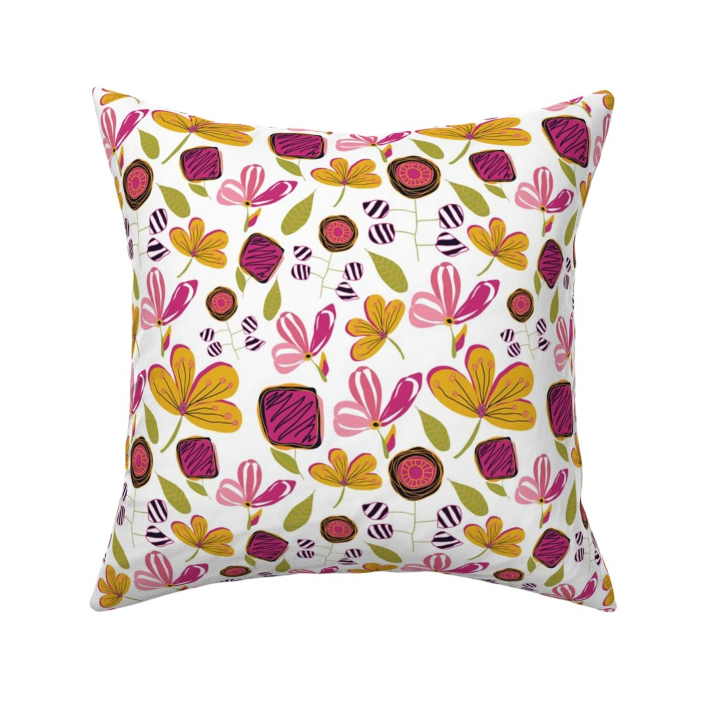 Catalan Throw Pillow featuring Enchanted Garden by studiojulieann