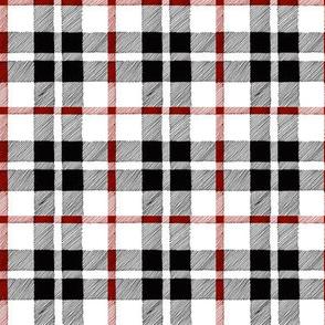 fall plaid red/black/white