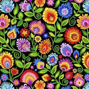 Wildflowers on Black-medium