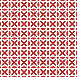 Folk Stitch-Red