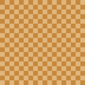 Checks - 1 inch (2.54cm) - Pale Brown (#E0B67C) and Light Brown (#C6883D)