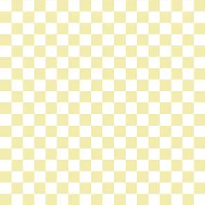 Checks - 1 inch (2.54cm) - Beige (#F3E3C0) & White (#FFFFFF)