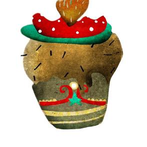 A 1 February 2011 - Vintage cupcake