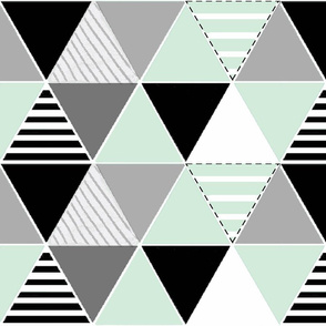 Mint Stripes cheater quilt