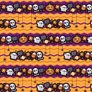 Halloween Boo Chevron