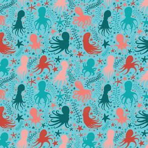 Turquoise Octopi Sea