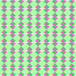 Circle Triangle pink and green