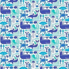 Sea friends (blue)