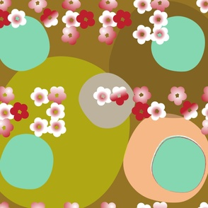 cherry moon braille sakura japanese style