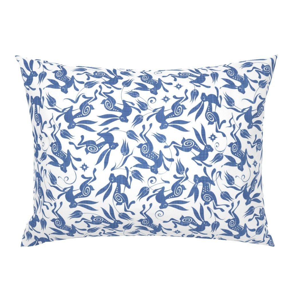 Campine Pillow Sham featuring Blue Tulip by spellstone