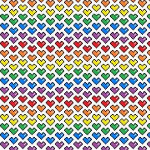 Pixel Heart (Rainbow) Chevron