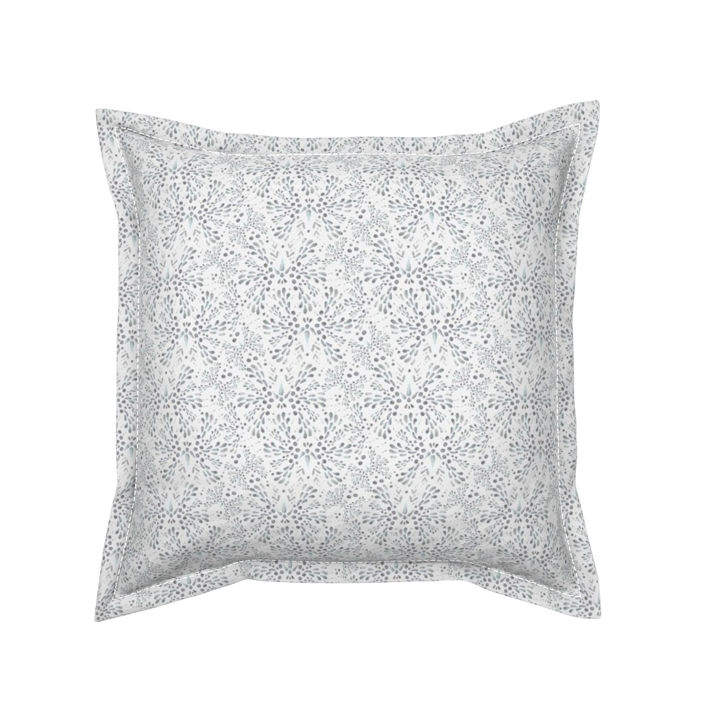 Serama Throw Pillow featuring Silver Twinkle (Snow White) by christinemay