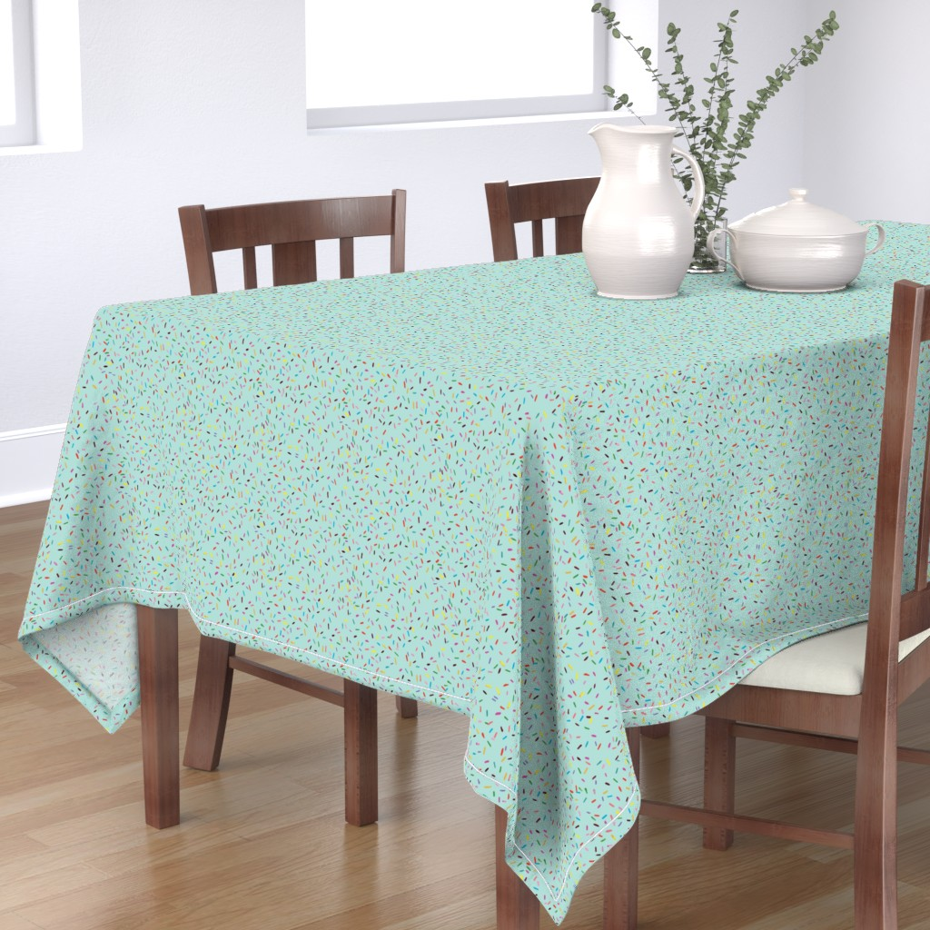 Bantam Rectangular Tablecloth featuring Sprinkle It! by michellenilson