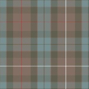 "Fraser hunting tartan, 6"" greyed weathered"