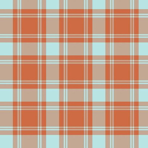 "MacQuarrie tartan, 2.5"" weathered, greyed"