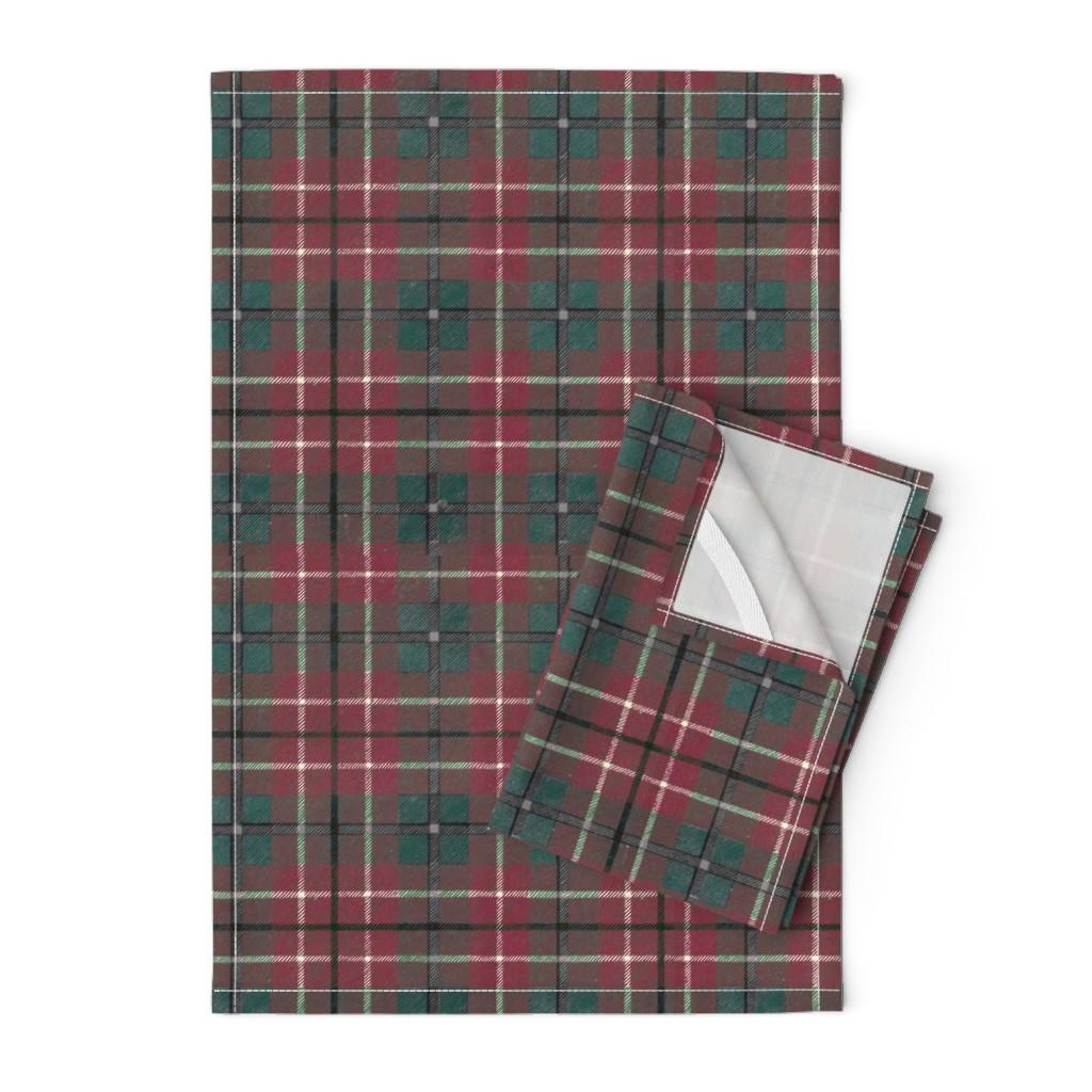Orpington Tea Towels featuring Scottish Plaid by katie_murphy_design