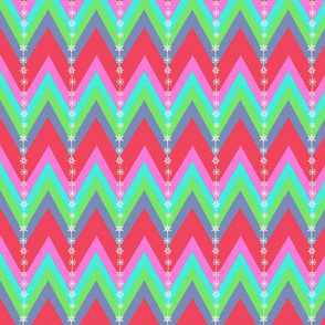 Scandinavian  stripe, Snowflake, Red and green Holiday,  Bright , chevron,