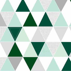Emerald Sketch Triangle Quilt
