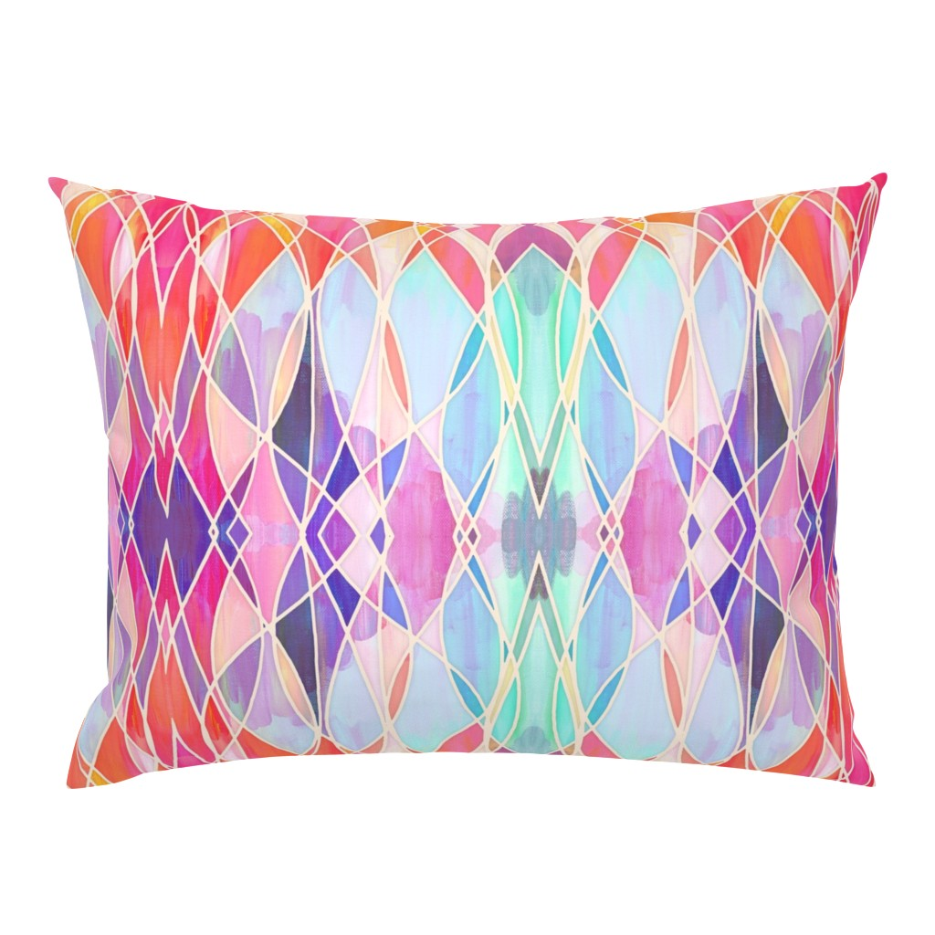 Campine Pillow Sham featuring Super Colorful Abstract Painting with texture by micklyn