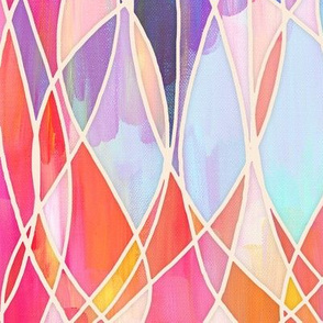 Super Colorful Abstract Painting with texture