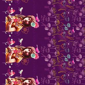 Dear Betsie Border Design Purple