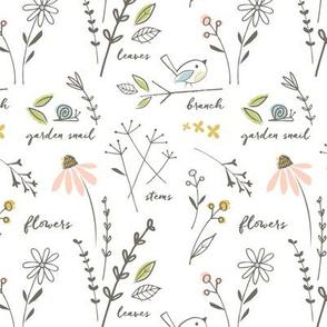 garden sketchbook white