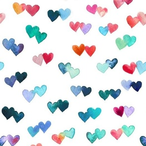 Watercolor Heart Connections