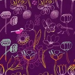 Dear Betsy Birds Purple