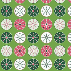 Christmas Snowflake Circles (Merry)