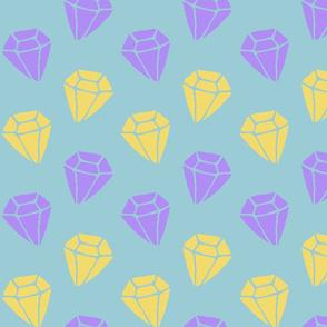 purple and yellow diamonds