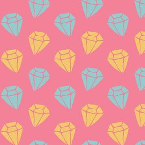 Cotton candy diamonds