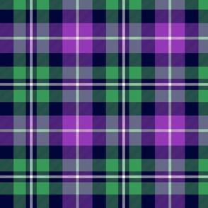 "MacNeil tartan - 8"" greyed green and purple"