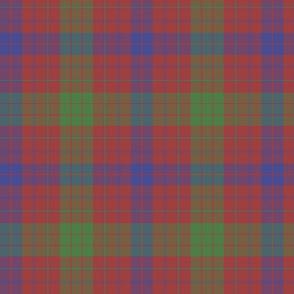 "Ross clan tartan, 8"" greyed modern colors"