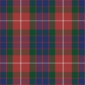 "Fraser red tartan, 6"" greyed modern"