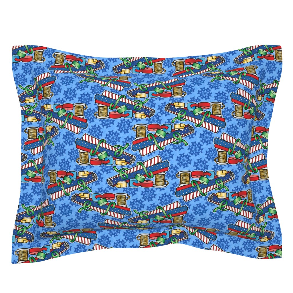 Sebright Pillow Sham featuring wrapping paper by hannafate