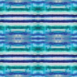 Watercolor Stripes in Cobalt and Teal