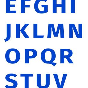 Alphabet Panel 2 Yards