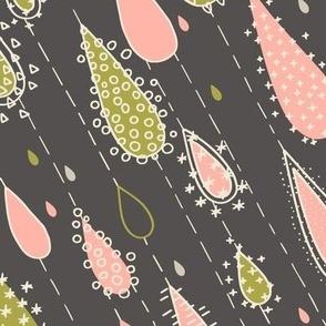 Rose and Olive Rain Drops