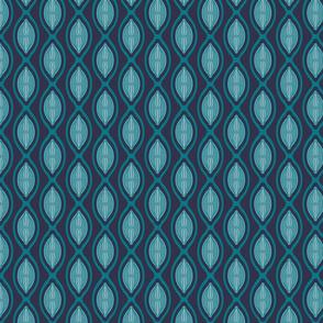 diatom algae ogee in blue