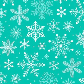 Snowflakes Christmas Holiday Mint