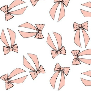 sweet bows (light pink)