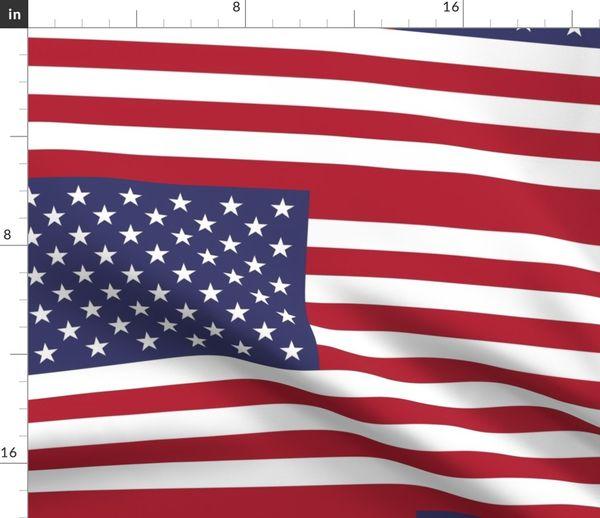 """Flaggen-Girlande /""""USA/"""" aus Stoff 4 m"""