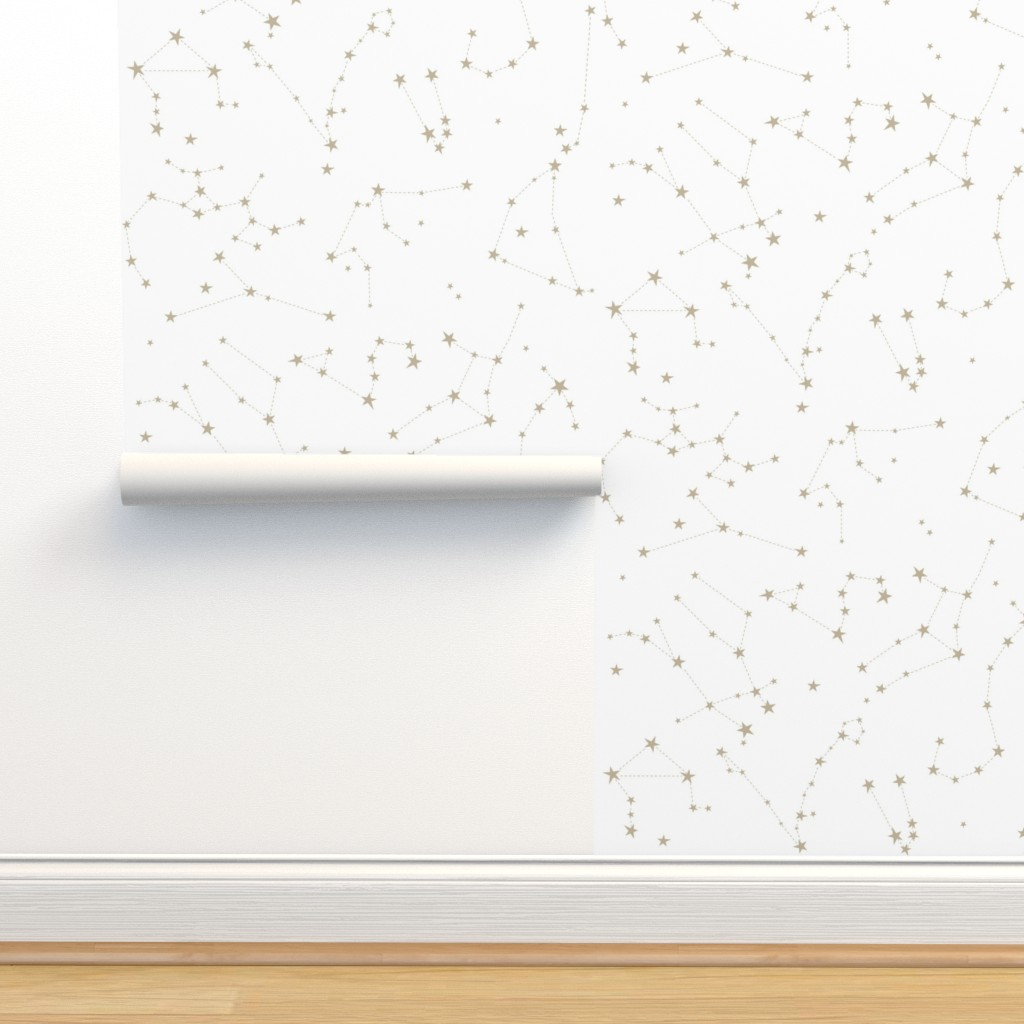 Isobar Durable Wallpaper featuring stars in the zodiac constellations by eleventy-five