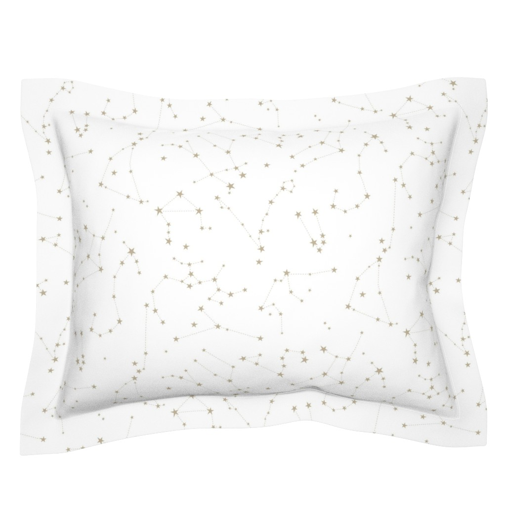 Sebright Pillow Sham featuring stars in the zodiac constellations by eleventy-five