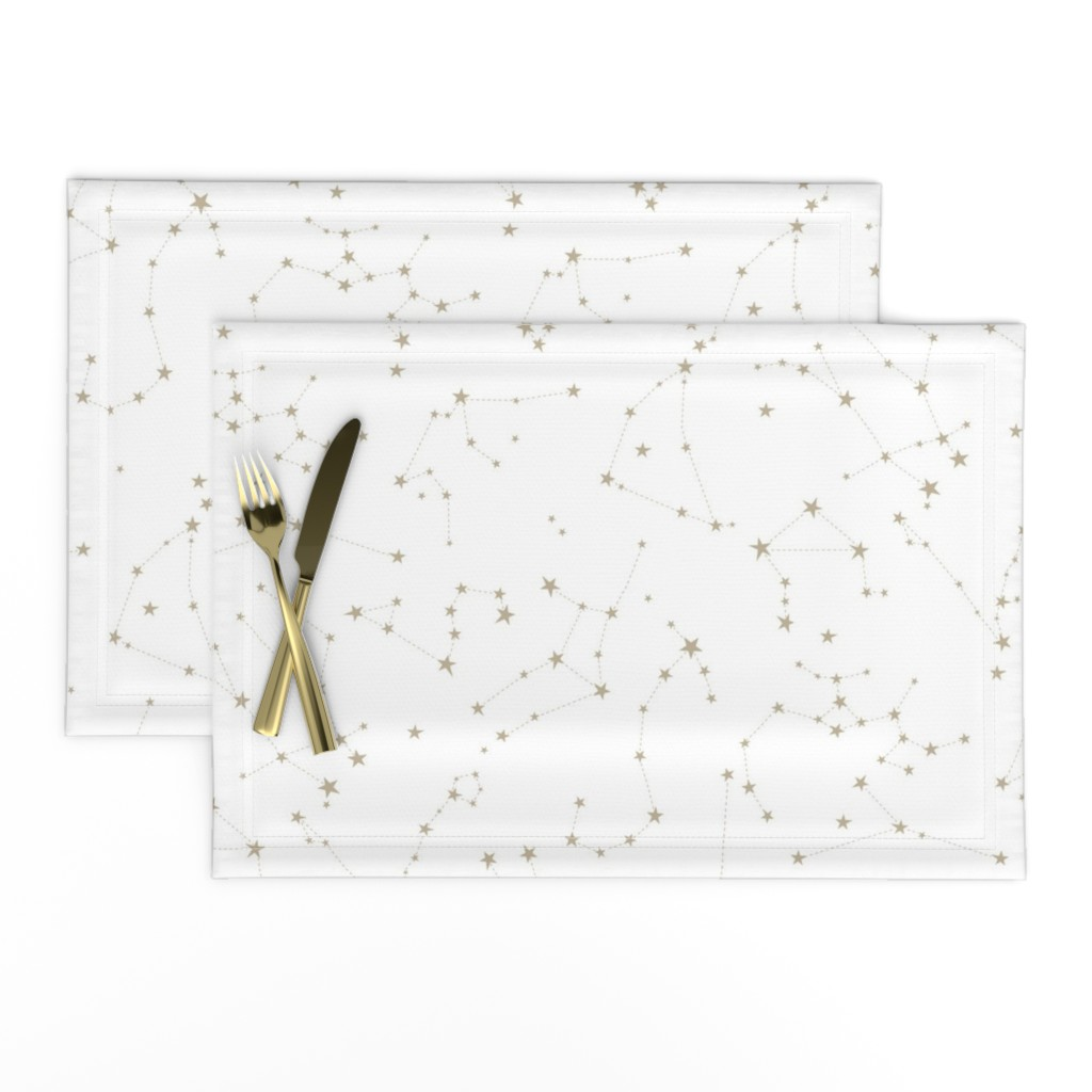Lamona Cloth Placemats featuring stars in the zodiac constellations by eleventy-five