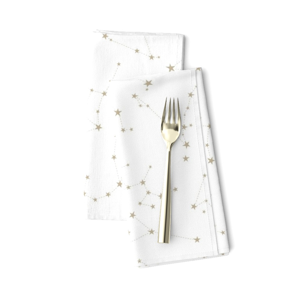 Amarela Dinner Napkins featuring stars in the zodiac constellations by eleventy-five